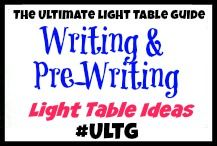 Writing and Pre-Writing Light Table Ideas from The Ultimate Light Table Guide #ULTG