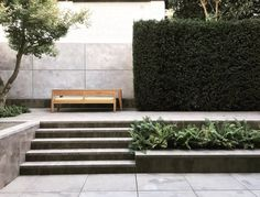 Luciano Giubbilei - find an aspect to include Modern Landscaping, Outdoor Landscaping, Outdoor Gardens, Landscape Stairs, Landscape Architecture Design, Small Space Gardening, Garden Spaces, Pool Water Features, Minimalist Garden