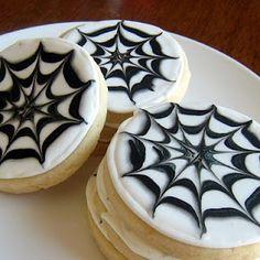 Halloween *Food* - Spider Web Sugar Cookies (recipe & tutorial)