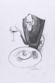 Concept Art, Ego, Ratatouille, 2007 created by Carter Goodrich.