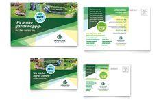 Landscaper Postcard Template Design