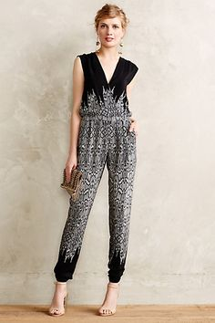 #Draped #Silk #Jumpsuit #Cynthia #Vincent #Anthropologie