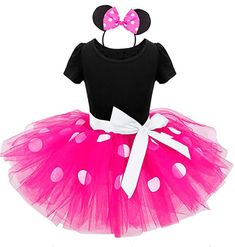 Baby Minnie Mouse Party Dress - 1st Birthday Party Outfit - Minnie mouse birthday tutu set - cake smash outfit - Minnie Mouse Tutu Costume , First Birthday Girls Tutu Dresses, Tutus For Girls, Kids Tutu, Maxi Dresses, Baby Girl Tutu, Baby Dress, Dot Dress, Baby Girls, Mesh Dress