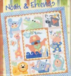 Noah and Friends .. How could you resist making this fun new design from Kookaburra Cottage featuring Noah and his Friends.    Patterns includes Noah and his ark, a cute monkey, giraffe, elephant, zebra, lion, crocodile, hippo and the sweetest kangaroo! The set is made up of 10 patterns.