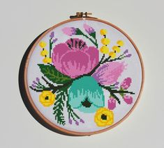 Amazing Flowers, Peonies, Hand Embroidery, Cross Stitch Patterns, Crafty, Roses, Unique Jewelry, Handmade Gifts, Rose