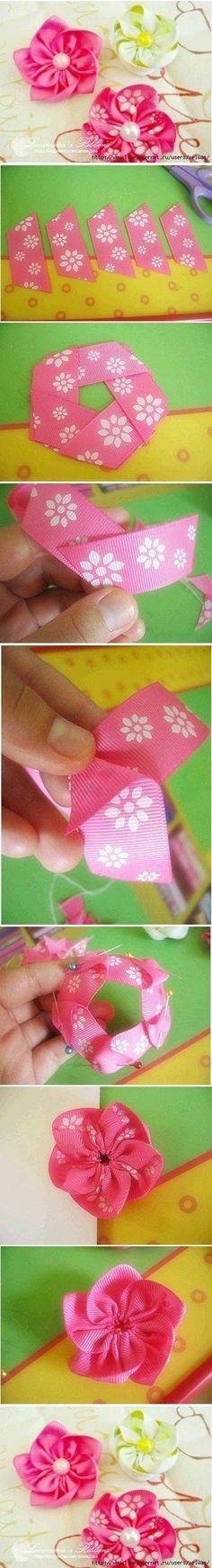 Flores de cinta DIY proyectos de bricolaje