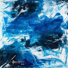 Naufragio - cuadro abstracto @arianamatulionis Acrílico sobre bastidor de 80 x  80