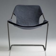 Paulistano canvas armchair designed by Paulo Mendes da Rocha in 1957 for Objekto.