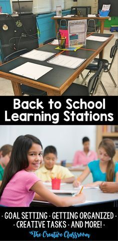 Back to School Learning Stations with EDITABLE Templates
