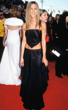 Jennifer Aniston's Life in LBDs | People - 1999 SAG Awards (can we talk about those abs?!)