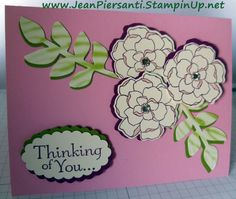 Alcohol Ink and Shadowing - Secret Garden Stamp Set by Stampin' Up! - Beauty and the Stamper