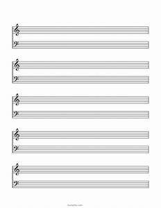 Music Blank Sheet Blank Sheet Music Paper Grand Staff Blank
