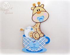 Convite de Chá de Bebê com Girafa