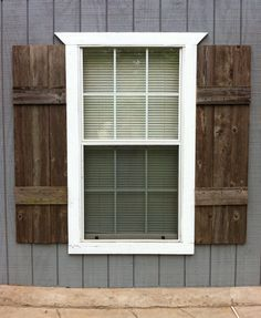 SHUTTERS (interior or exterior).  Custom made from reclaimed wood.  Ready to install.