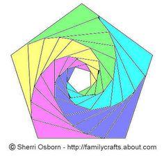 Iris folding Shablon 5