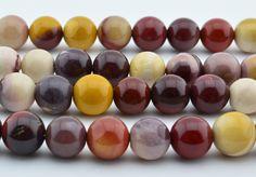 15.5   10mm  Mookaite  Gem  Round  Beads by Gemstocks on Etsy