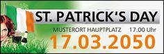 Werbebanner für Events jetzt bei onlineprintXXLversandkostenfrei online bestellen #banner #bannerdesign #bannervorlage #vorlage #stpatricksday #greenhome #belucky #irland