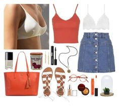 """""""Coral Rae"""" by sophiehackett ❤ liked on Polyvore featuring Billabong, UGG Australia, Anastasia Beverly Hills, Topshop, French Kande, LORAC, BCBGMAXAZRIA, Dot & Bo, Kevyn Aucoin and Chanel"""