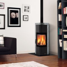 La Nordica Zen Wood Burning Stove With Soapstone Cladding To Help Overnight And Slow
