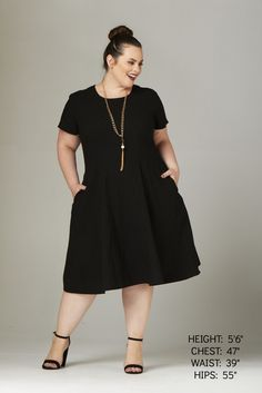Plus Size Clothing for Women - Waverly Street Damask Skater Dress - Black-Hold for Stitch Fix - Society+ - Society Plus - Buy Online Now! - 3