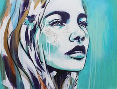 Natural, Beautiful & Strong: Urban street art portraits of tranquil female characters | Creative Boom