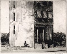 Edward Hopper / The Lonely House / 1923 / Etching