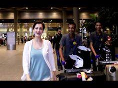 Dia Mirza & Athiya Shetty SPOTTED at Mumbai airport. Athiya Shetty, Mumbai Airport, Dia Mirza, Youtube, Youtubers, Youtube Movies