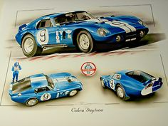 Details About Ac Cobra Daytona Carroll Shelby New Uk Print The