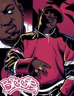 'Biggie Rapper Hip hop' by Love And Hip, Hip Hop And R&b, 90s Hip Hop, Arte Do Hip Hop, Hip Hop Art, Arte Dope, Dope Art, Baile Hip Hop, Street Art