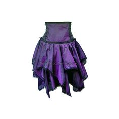 Purple Silky Gothic Underbust Corset Skirt ($54) ❤ liked on Polyvore featuring skirts, gothic skirt, gothic lolita skirts, purple skirt and goth skirt