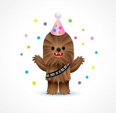 31 New Ideas For Birthday Meme Disney Star Wars Happy Birthday Disney, Free Happy Birthday Cards, Happy Birthday Messages, Birthday Fun, Birthday Greetings, Birthday Wishes, Humor Birthday, Happy Birthday Love, Chewbacca
