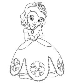 Cute Princess Sofia Disney Coloring Pages Printable And Book To Print For Free Find More Online Kids Adults Of
