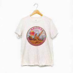 d99f764da AZ Roadrunner Tee / womens graphic tees / vintage style arizona desert t  shirt / souvenir