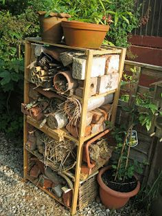 Peas in a Pod: Homes for Nature: High Rise Bug Hotel