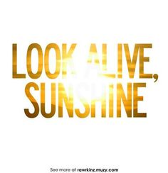 Look Alive Sunshine Yellow