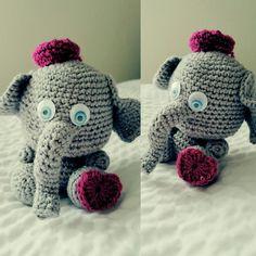 Amigurumi elephant #crochet