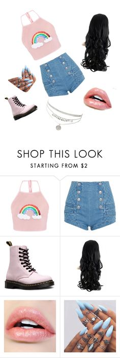 """""""My First Polyvore Outfit"""" by gimetelo ❤ liked on Polyvore featuring Pierre Balmain and Dr. Martens"""