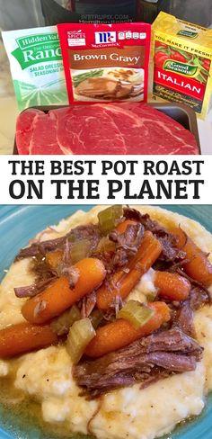 Crockpot Dishes, Crock Pot Cooking, Easy Crockpot Recipes, Chuck Roast Crockpot Recipes, Crockpot Dinner Easy, East Crockpot Meals, Crock Pot Roast Beef, Slow Cooker Easy Recipes, Boneless Chuck Roast Recipes