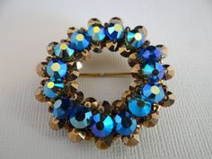 Stunning Hobe Blue Aurora Borealis and Chocolate by SecondWindShop, $75.00