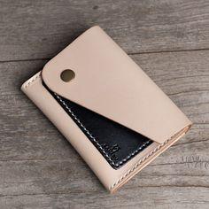 Handmade leather vintage women short wallet clutch coin purse wallet