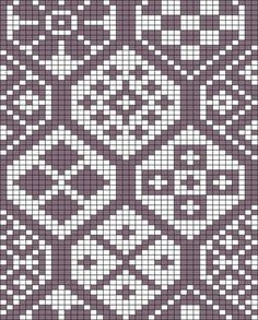 "Photo from album ""Схемы, выкройки"" on Yandex. Weaving Patterns, Mosaic Patterns, Stitch Patterns, Crochet Patterns, Knitting Patterns, Cross Stitch Samplers, Cross Stitch Embroidery, Wiggly Crochet, Fair Isle Chart"