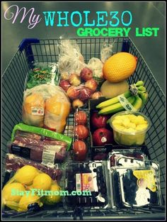 Everything you need to start a Whole 30! 30 days of clean eating.