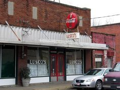 Lusco's in Greenwood, MS.  The groceries are gone, but the secret booths in the back room retain their privacy curtains and buzzers to summon the staff.