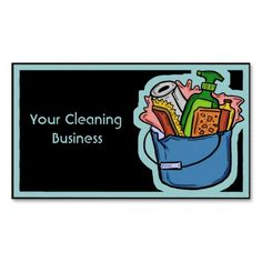 Customizable cleaning business card template #businesscards #business #customcards #cleaning  ArtisticAttitude.net