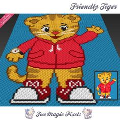 Looking for your next project? You're going to love Friendly Tiger C2C crochet graph by designer TwoMagicPixels.