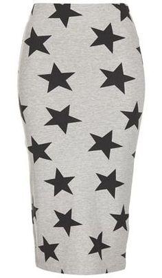 Topshop star print tube skirt
