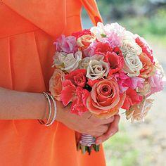 More Pink and Orange wedding flowers.
