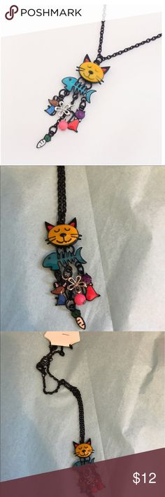 ADORABLE CAT AND FISH BONE NECKLACE 20 inch chain. Super cute!!!! SIGN UP IS CLOSED 💎  THANK YOU SO MUCH FOR SHARING.   Please let us know of your sales 💵💵💵💵💵💎💵  We want to celebrate with you!! 💐🍾🥂🍷  HAVE A FANTASTIC AFTERNOON LADIES 😊❤️💎💎💎💎 Jewelry Necklaces