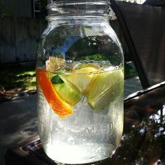 Hippy Juice - organic oranges, lemons,  cucumbers & purified water. SO delicious!! Refrigerate at least 1 hour.