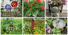 You are about to take a virtual tour of my sister in law's flower gardens.  They are something to behold! A riot of color from both an...